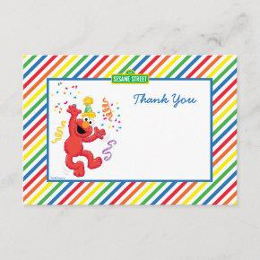 Elmo Striped Birthday Thank You