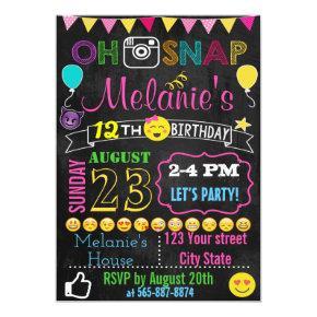 Emoji Birthday invitation Invitations