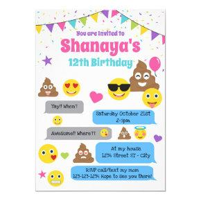 Emoji birthday Invitations, Emoji Party Invite