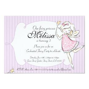 Enchanted Fairy Princess Birthday Party Invitations