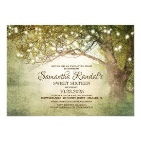 Enchanted Fairytale String Lights Sweet 16 Invitation