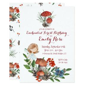 Enchanted Forest Fairy Birthday Invitations