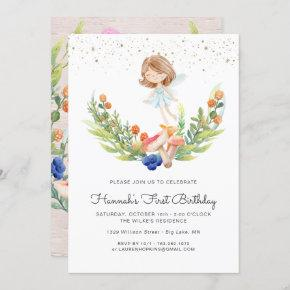 Enchanted Forest Fairy Birthday Invitation