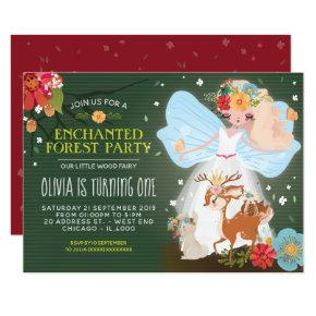 Enchanted Forest Fairy Birthday Party Invitation