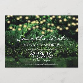 Enchanted Forest Fairy Lights Save the Date