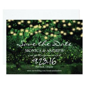 Enchanted Forest Fairy Lights Save the Date Card