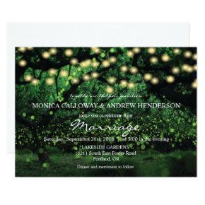 Enchanted Forest Fairy Lights Wedding Invitation