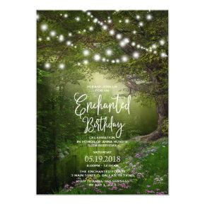 Enchanted String Lights Birthday Party Invitations