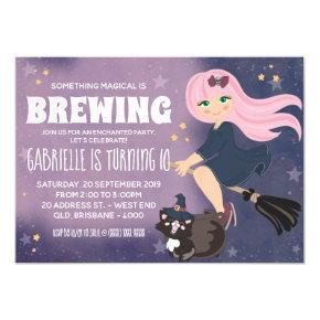 Enchanted Witch Party Invitation