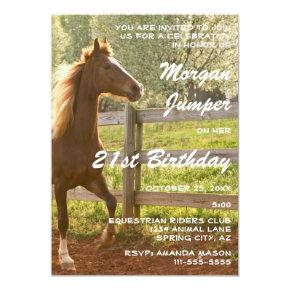 Equestrian Animal Horse Riding 1A Birthday Party Invitation