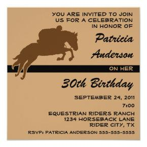 Equestrian Animal Horse Riding Birthday Party Invitation