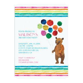 Eric Carle | Beary Girl Striped Birthday Invitation