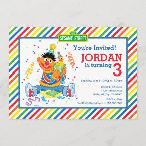 Ernie Striped Birthday Invitation