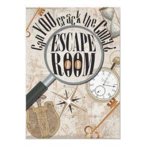 Escape Room Game Personalized Birthday Party Invitation