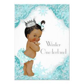 Ethnic Girl Winter Onederland 1st Birthday Party Invitation