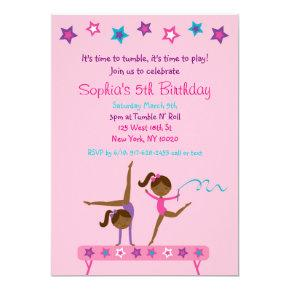 Ethnic Gymnastics Girl Birthday Card