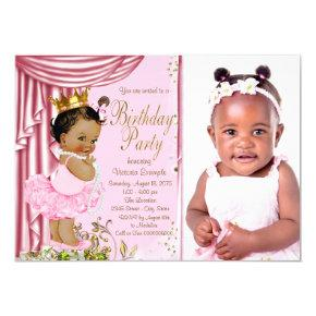 Ethnic Princess Tutu Pearl Birthday Party Invitation