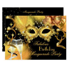 Fabulous Gold Black Masquerade Birthday Party