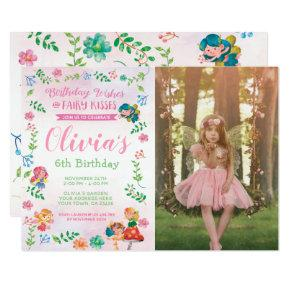 Fairies, Magical Birthday Invitation with Photo