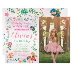 Fairies, Magical Birthday Invitation with Photo