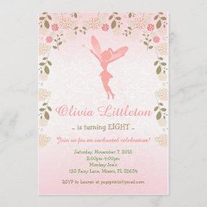 Fairy Birthday Invitation - Enchanted Fairy Garden