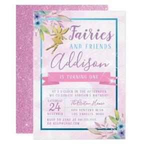 Fairy First Birthday Invitation