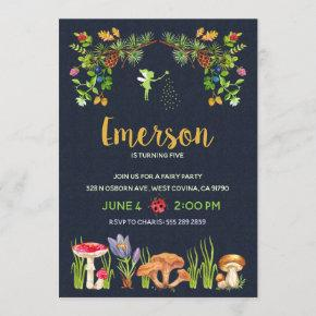 Fairy Garden Birthday Party Invitation