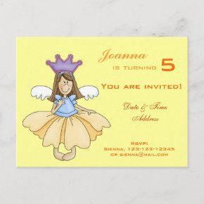 Fairy Princess Birthday Invitations