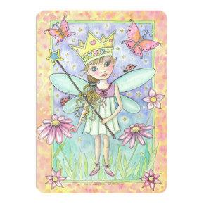 Fairy Princess Birthday Party Invite for Girls