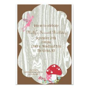 Fairy Woodland Invitations