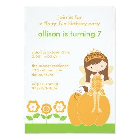 Fall Fairy Princess Invitations
