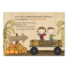 Fall Hayride Party Invitations