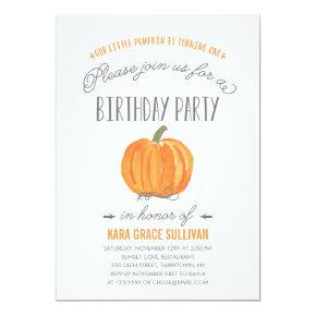 Fall Pumpkin Ombre | First Birthday Invitations
