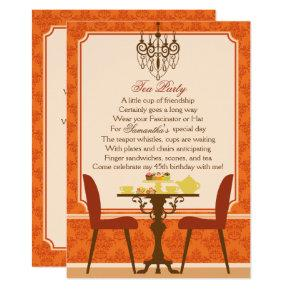 Fall Tea Party Invitation