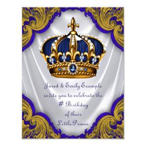Fancy Prince Birthday Party Card
