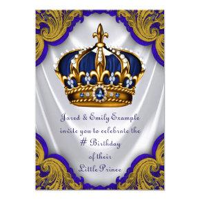 Fancy Prince Birthday Party Invitations