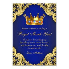 Fancy Prince Birthday Party Thank You Cards