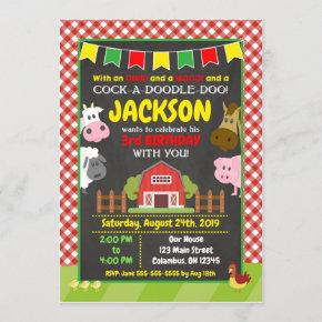 Farm Birthday Invitation / Barnyard Party