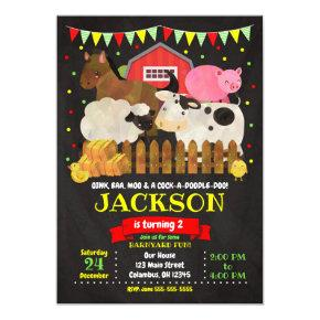 Farm Birthday Invitations / Barnyard Party