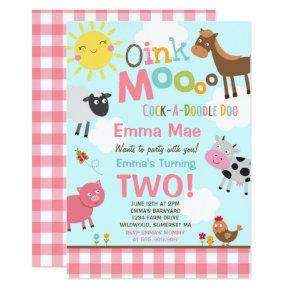 Farm Birthday Invitations Old MacDonald Farm Party