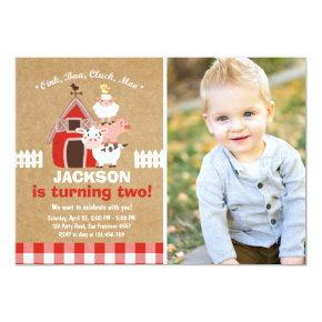 Farm Invitations Birthday Old McDonald Country