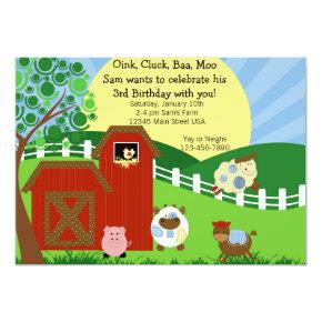Farm Party Invitations