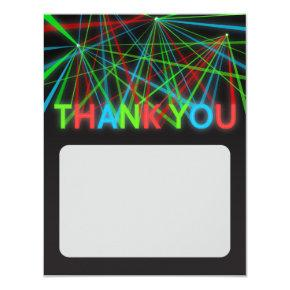 Faux Neon Words Thank You Note