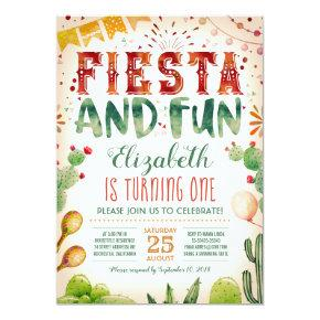 Fiesta and Fun | Summer Birthday Party Card