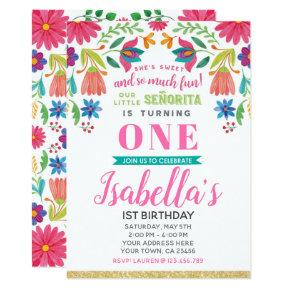 Fiesta Birthday Invitation
