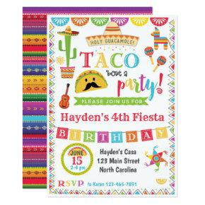 Fiesta Birthday Invitation, Mexican Fiesta Party Card