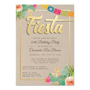 Fiesta Birthday Party Invitation