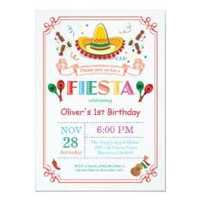 Fiesta Birthday Party Invitation Mexican