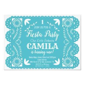 Fiesta Birthday Party Invitation Papel Picado