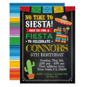 Fiesta, Cinco de mayo Birthday Invitation